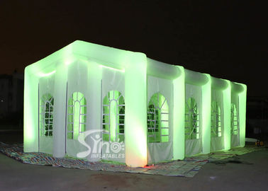 12x6m big blow up inflatable wedding party tent with LED light, movable doors N windows