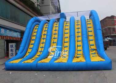 Hit and Run 6 lanes giant inflatable adult slide for outdoor mud run adventure