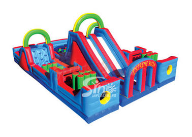 Outdoor Kids Commercial Inflatable Obstacle Course For Inflatable Playground Equipment