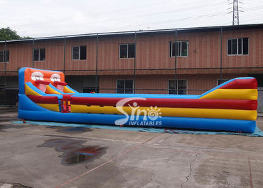 Outdoor Double Lane Inflatable Bungee Run With Basketball Throwing From Sino Inflatables