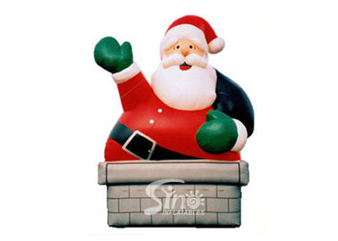 5m high outdoor giant funny inflatable Santa Claus for Christmas festival decoration