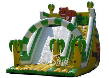 6 Mts High Kids Outdoor Inflatable Jungle Slide Made Of 0.55mm Pvc Tarpaulin