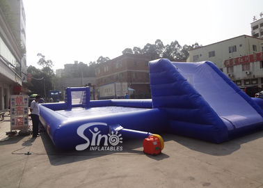 Funny Children Inflatable Games , Blue Inflatable Water Soap Soccer Field