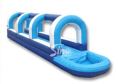 Outdoor kids parties blow up inflatable water slip and slide with pool
